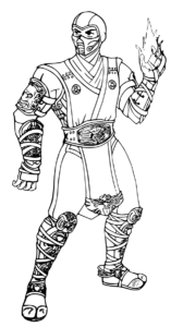 Mortal Kombat Coloring Pages Sub Zero