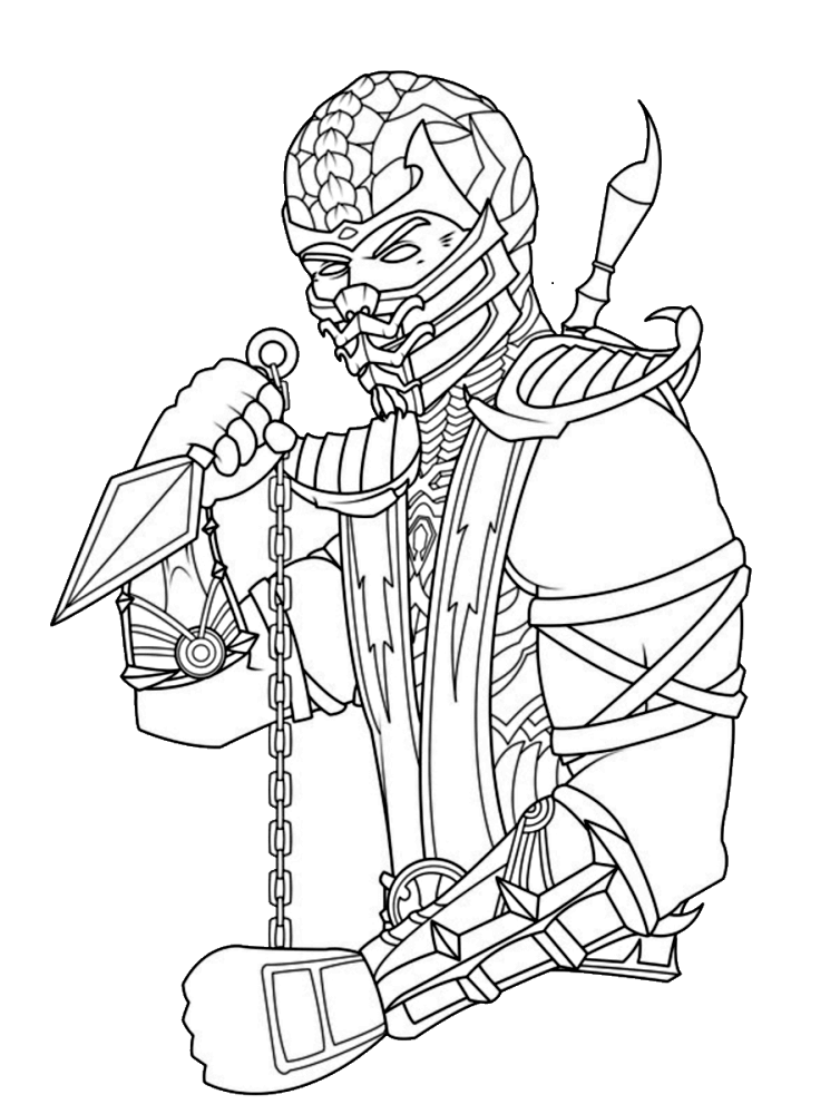 Mortal Kombat Coloring Sheet