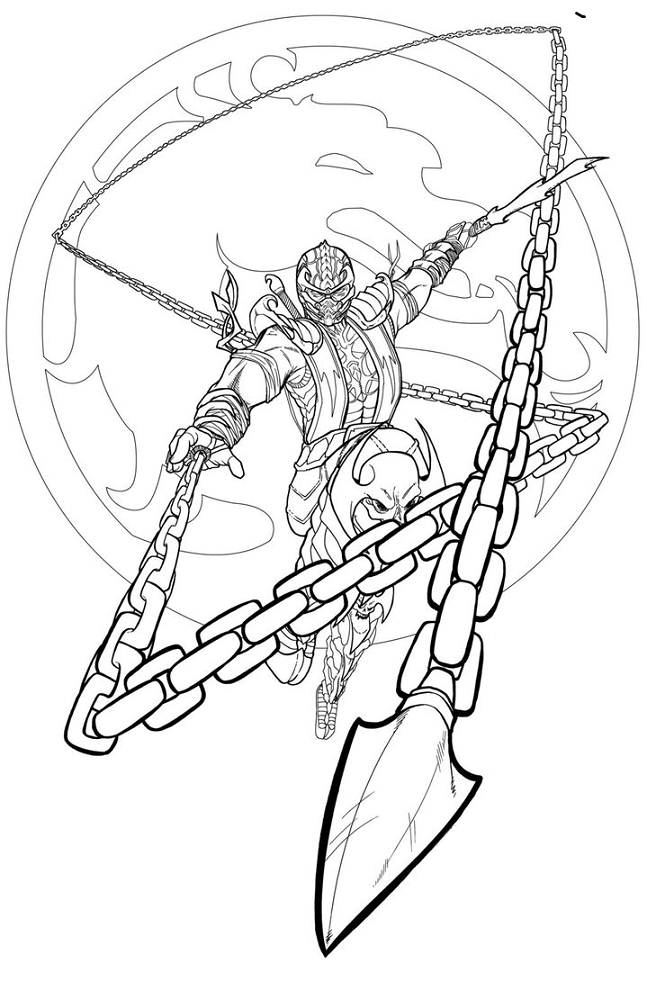 Mortal Kombat Coloring Sheets Printable