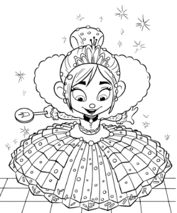 Ralph 2 Vanellope Coloring Page