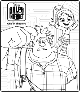 Ralph Breaks The Internet Coloring Pages Printable