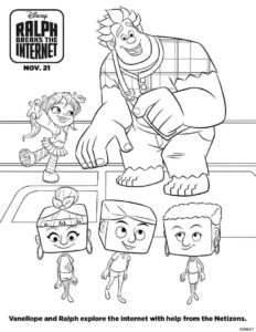 Ralph Breaks The Internet Coloring Sheets Printable