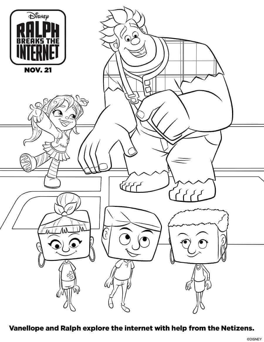 Ralph BreaksThe Internet Coloring Sheets Printable