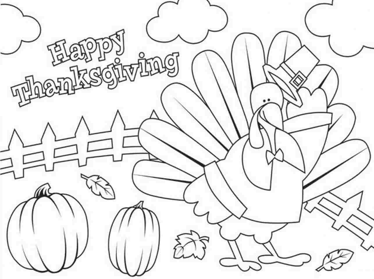 Thanksgiving 2018 Coloring Images Printable
