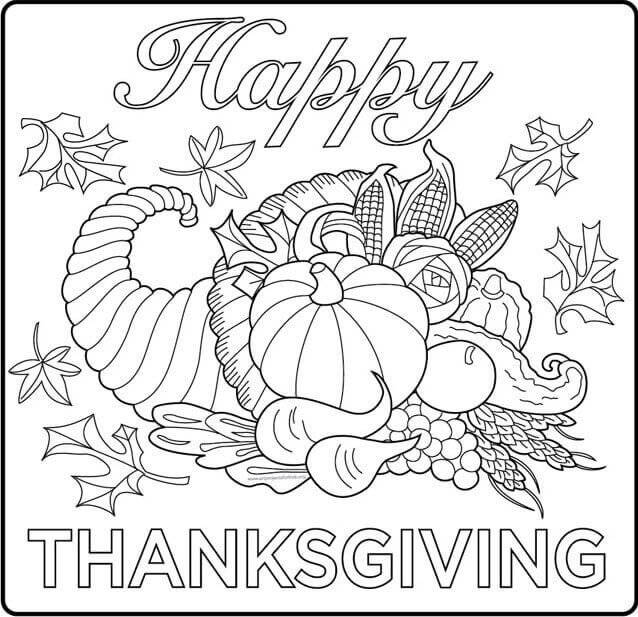 Thanksgiving 2018 Coloring Pages For Adults