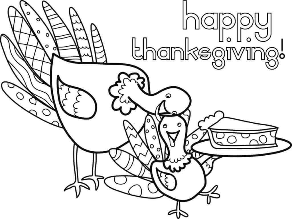 Thanksgiving 2018 Coloring Sheets