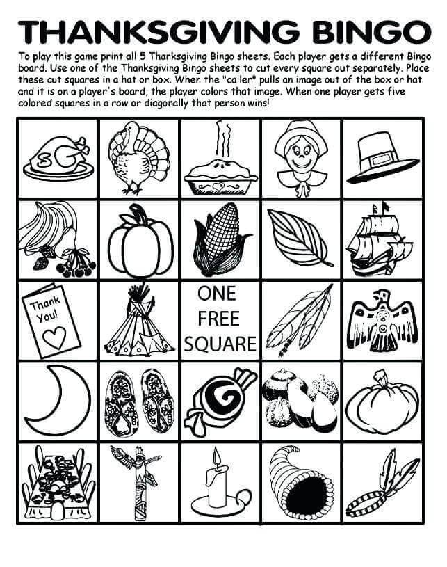 Thanksgiving Bingo Printable