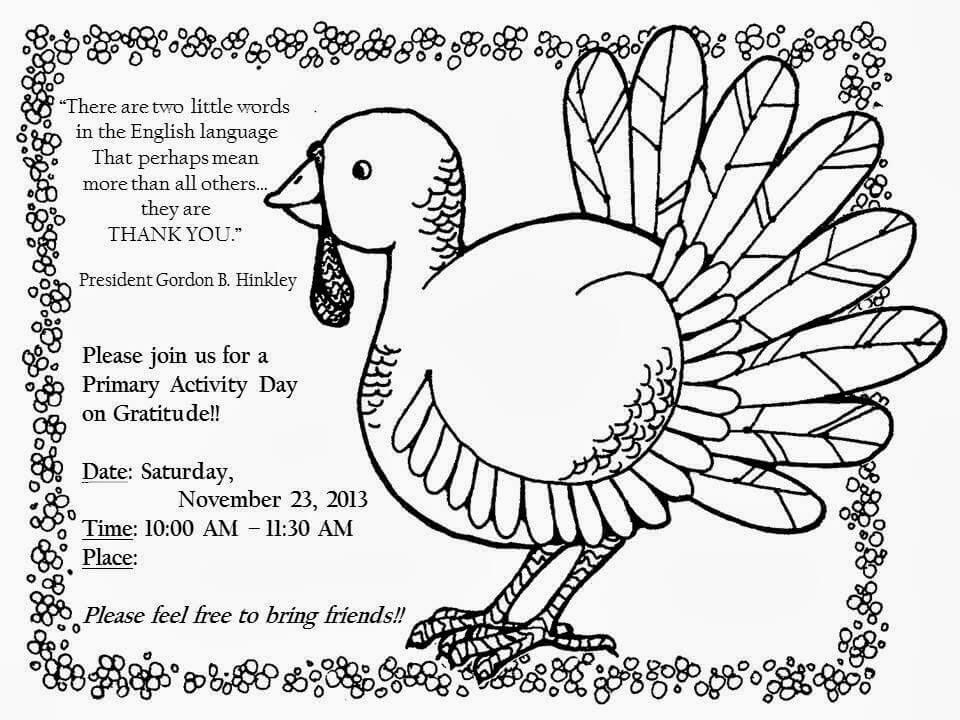 Traditional Thanksgiving Coloring Page