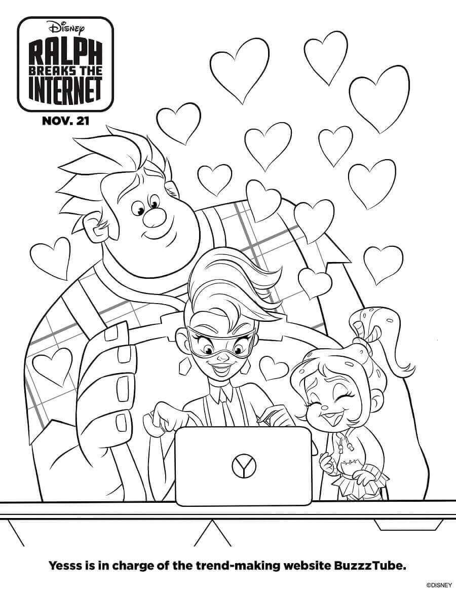 Yess Ralph Breaks The Internet Coloring Pages
