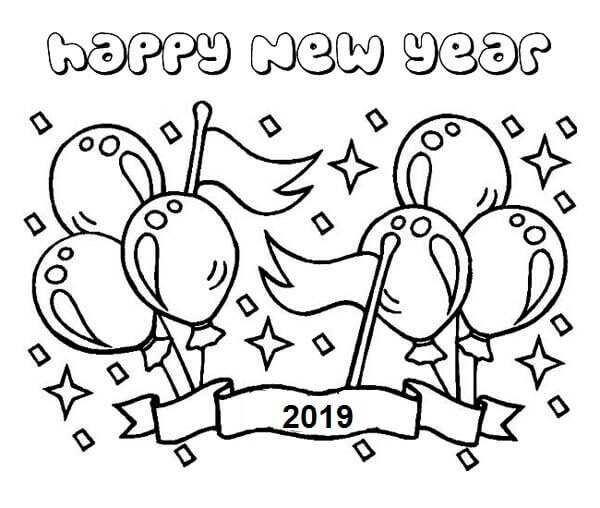 2019 Coloring Pages