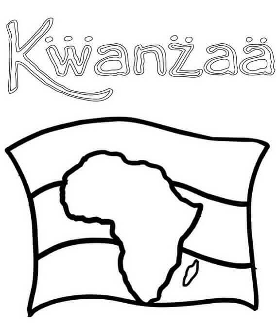 African Kwanzaa Coloring Pages Printable