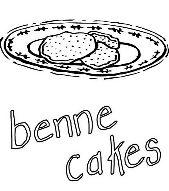 Benne Cakes Coloring Page