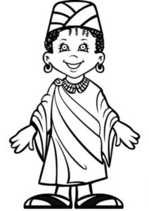 Girl Dress For Kwanzaa Coloring Page