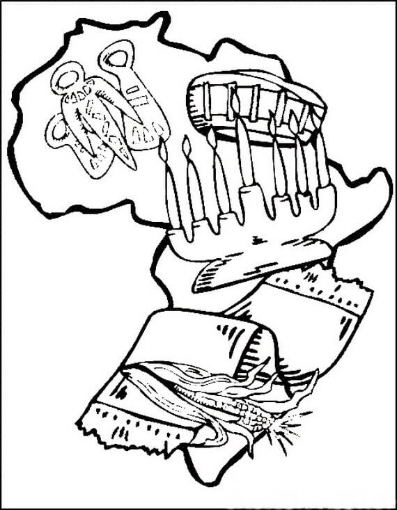 Kwanzaa Coloring Sheets Free