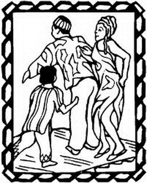 Kwanzaa Dance Coloring Pages