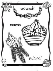 Kwanzaa Essentials Coloring Pages