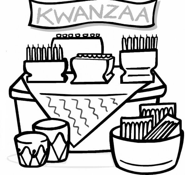 Kwanzaa Feast Coloring Pages