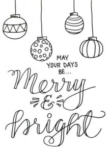 Merry Christmas And Seasons Greetings Coloring Page