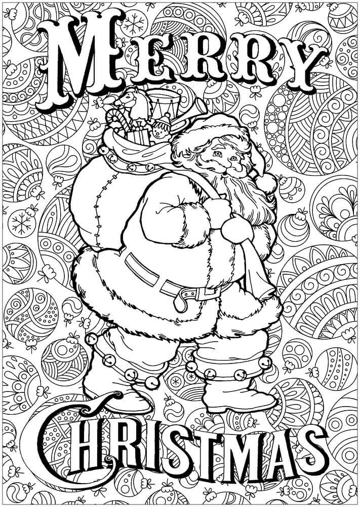 Merry Christmas Coloring Pages For Adults
