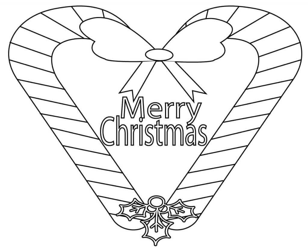 Merry Christmas Holidays Coloring Pages
