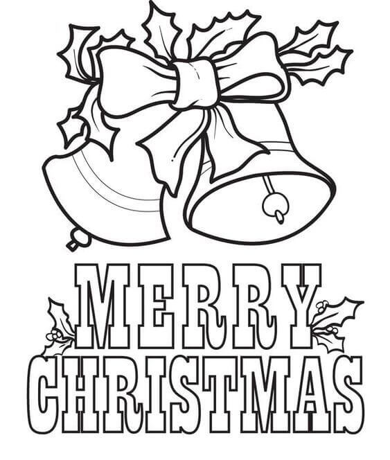 Merry Xmas Coloring Pages Printable