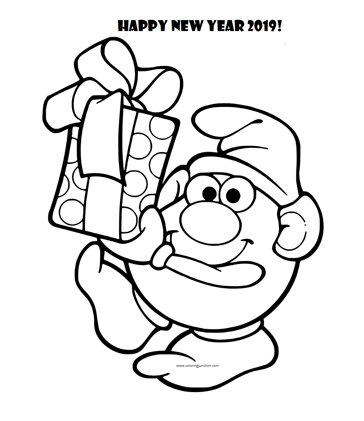 New Year 2019 Colouring Pictures To Print
