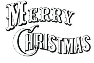Simple Merry Christmas Coloring Page