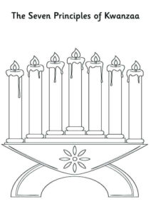 The Seven Principles Of Kwanzaa Coloring Page
