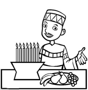Wishing Happy Kwanzaa Coloring Page