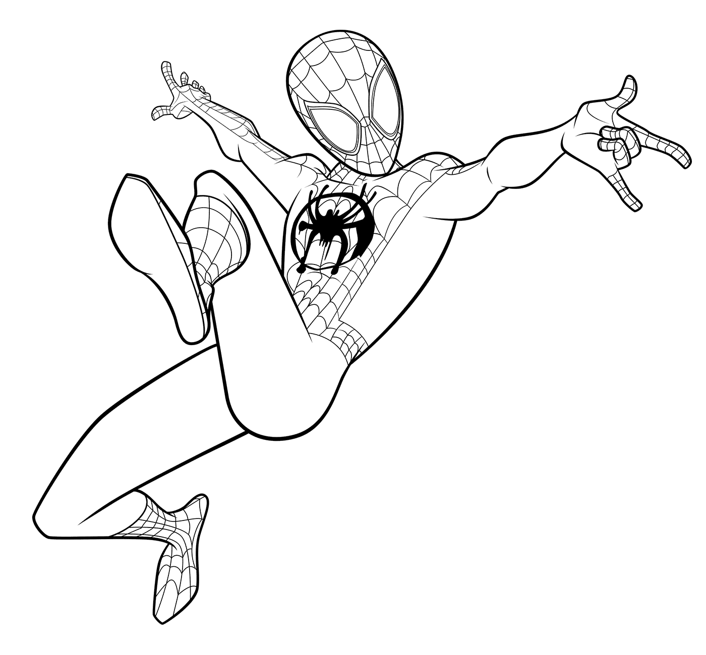 Spiderman coloring pages | Free Coloring Pages | 1300x1400