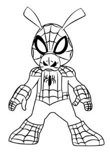 Spider Ham Coloring Page