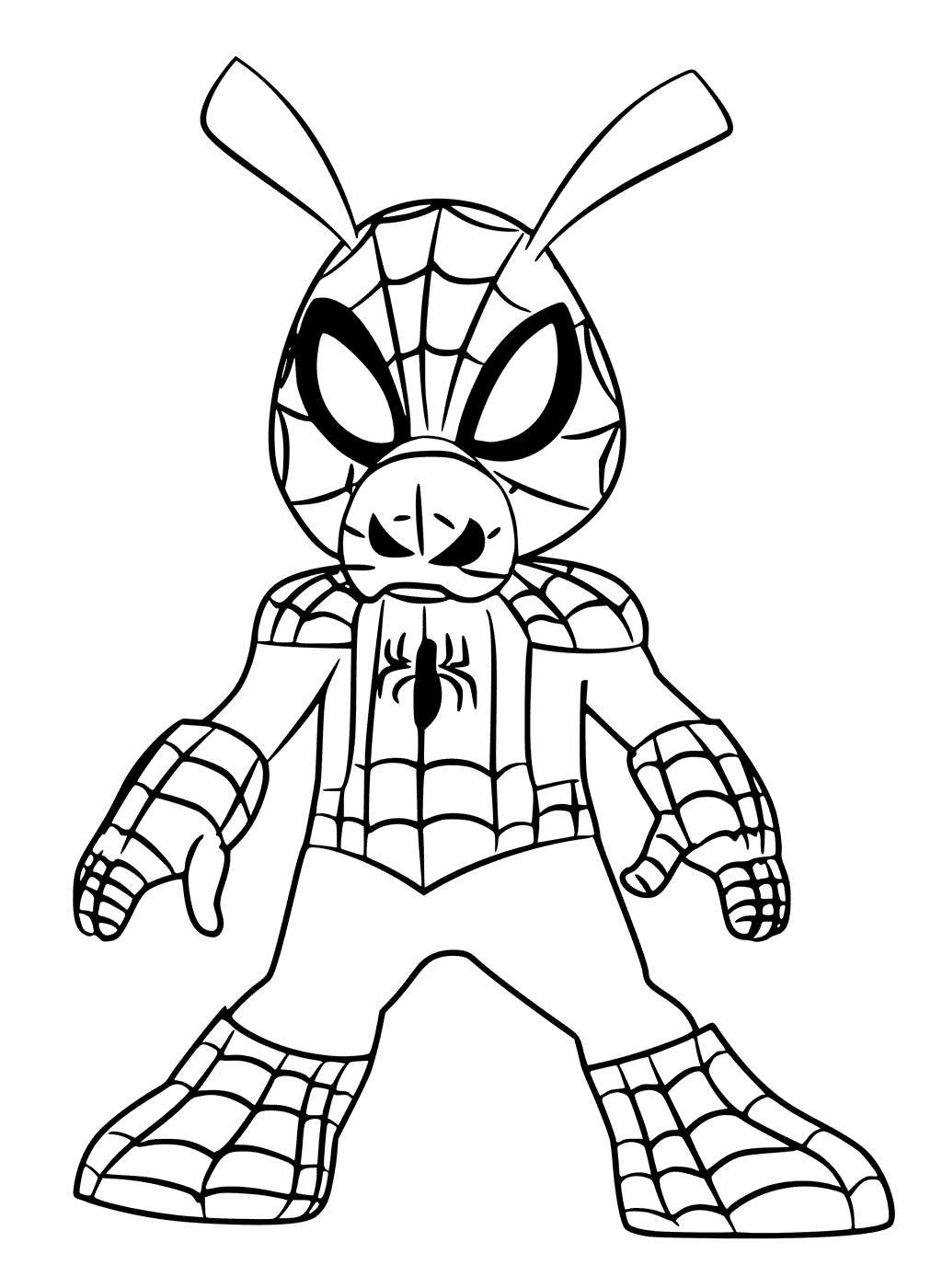 Free SpiderMan Into the SpiderVerse Coloring Pages