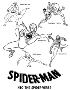 Spider Man Into The Spider Verse Coloring Pictures