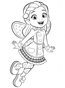 Butterbean From Butterbeans Cafe Coloring Page