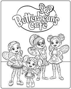Butterbeans Cafe Coloring Pages Printable