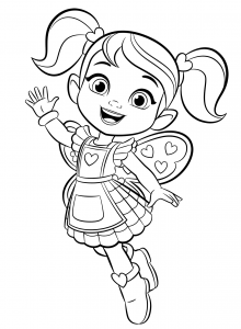 Butterbeans Cafe Cricket Coloring Page