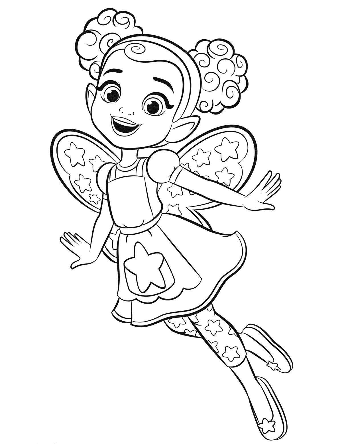 Dazzle From Butterbeans Cafe Coloring Sheet