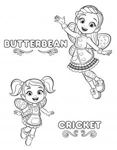 Free Printable Butterbeans Cafe Coloring Pages