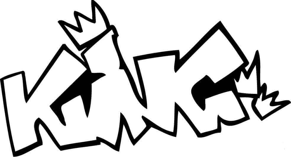 Free Printable Graffiti Coloring Sheet