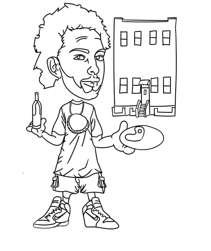 Graffiti Maker coloring page printable