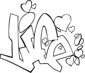 Printable Graffiti Coloring Pages