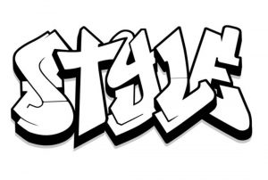 Style Graffiti Coloring Page
