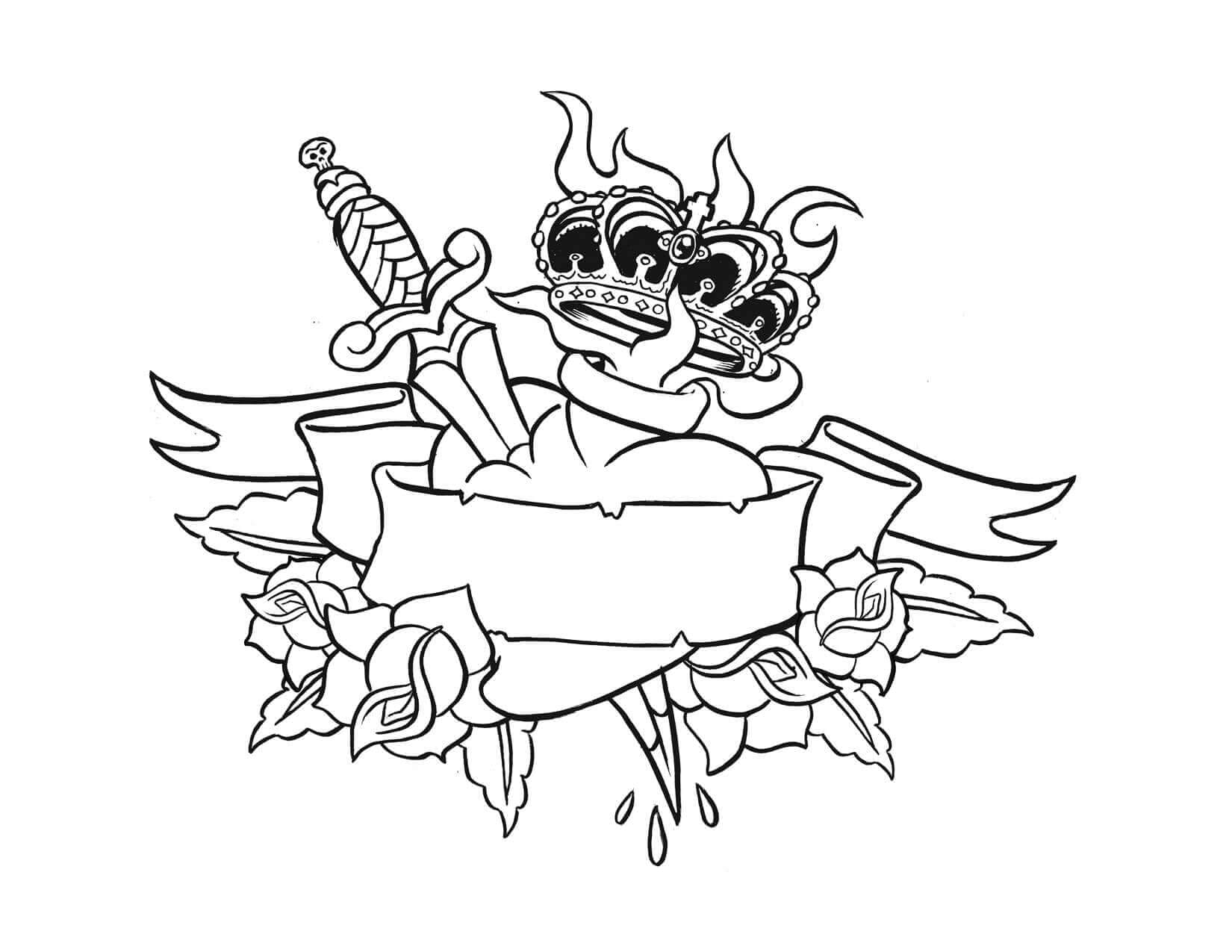 Tattoo Graffiti Coloring Page