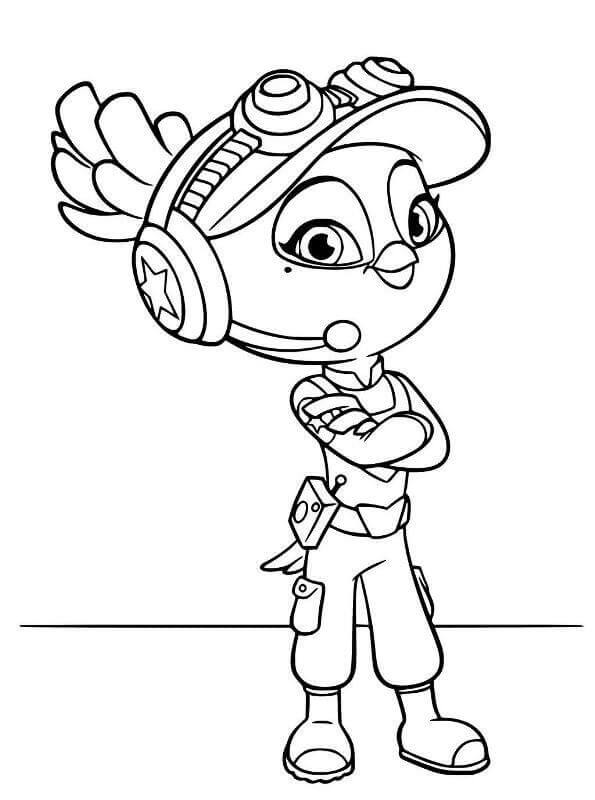 Bea from Top Wing Coloring Sheet