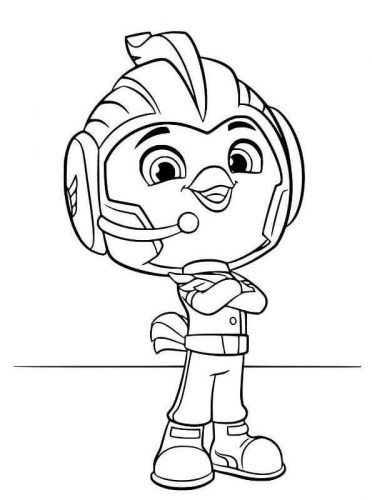 Rod From Top Wing Coloring Picture