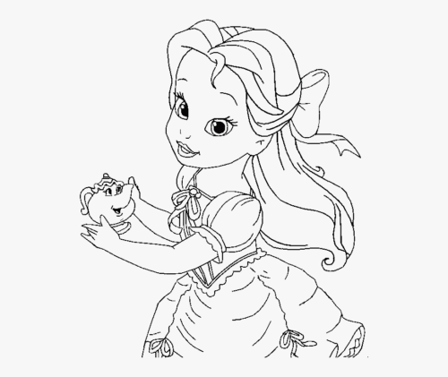 Belle Coloring Pages Disney Princess