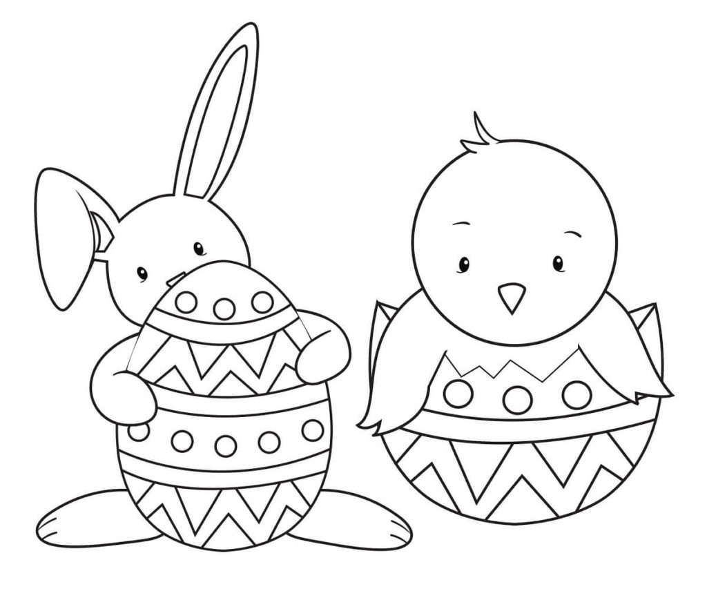 Cute Easy Easter Coloring Pages