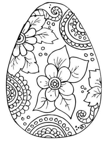 Cute Hard Easter Coloring Pages