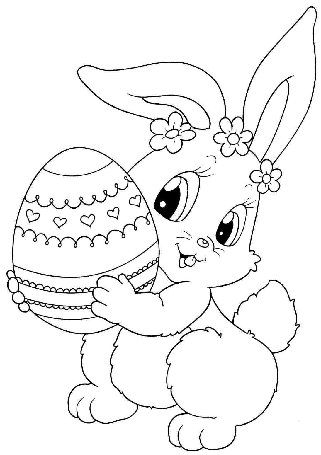 Cute Printable Easter Coloring Pages