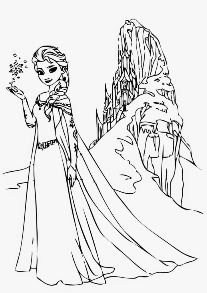 Beautiful Princess Coloring Pages For Kids Coloring Junction